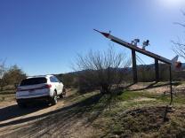 Look its Snoopy on a rocket in Wikieup, AZ