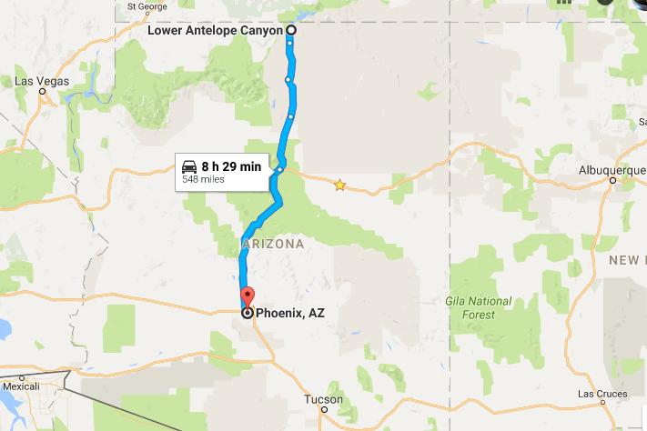 Lower Antelope Canyon Map Lower Antelope Canyon Antelope Canyon